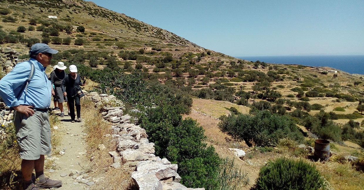 Trekking tours with groups in Sifnos